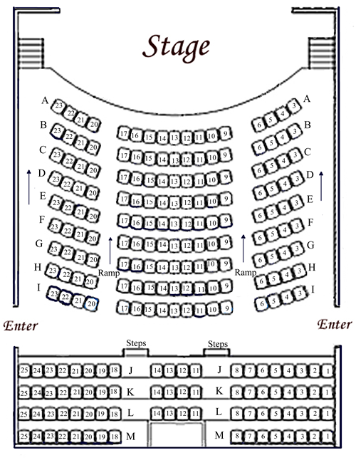 Seating Chart 187 Incline